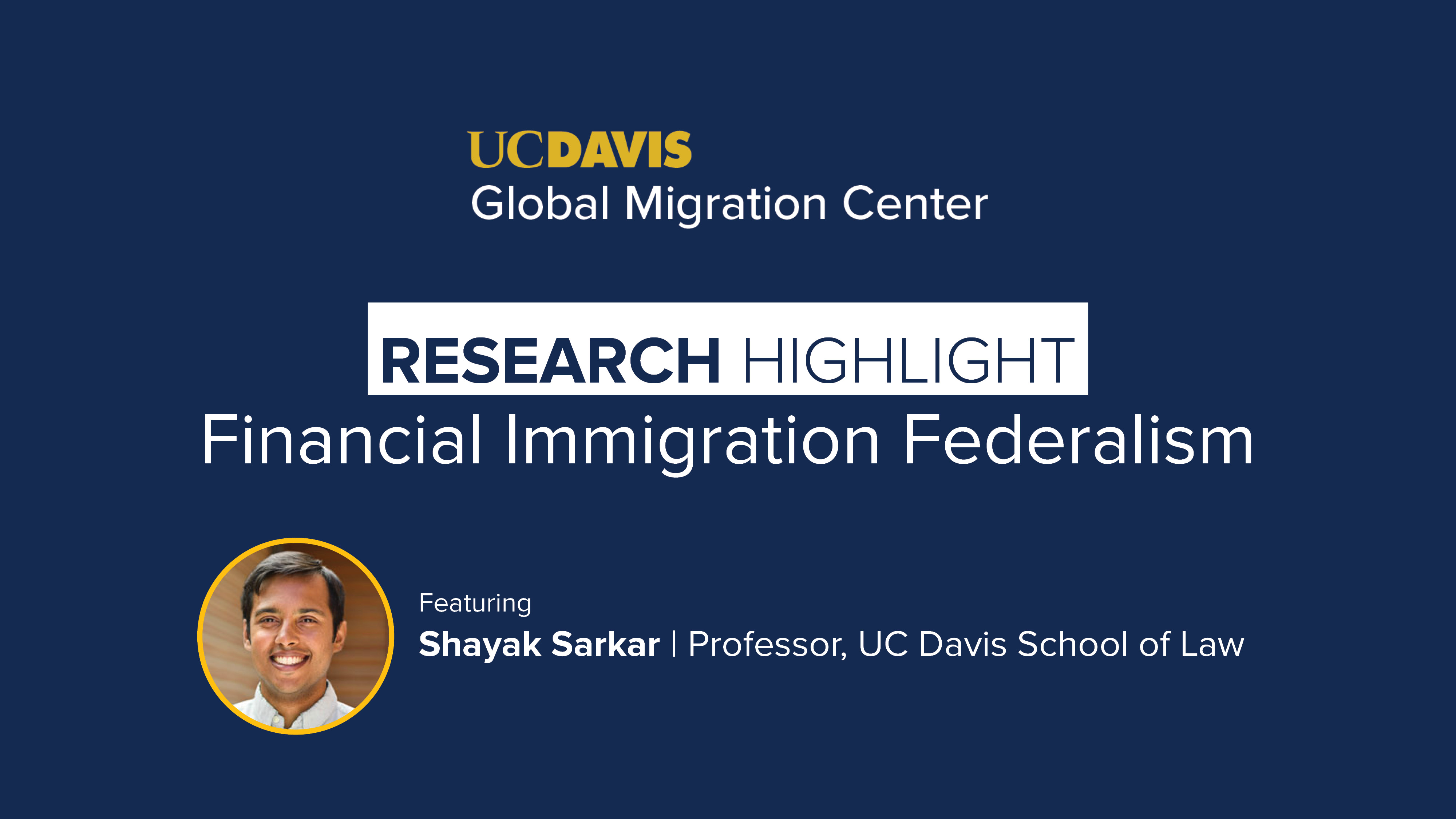 Financial Immigration Federalism