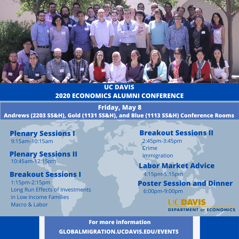​​​​​​​This fourth annual conference will discuss alumni research as well as provide opportunities to network and create collaborative relationships with current and future UC Davis Ph.D students.​​​​​​​