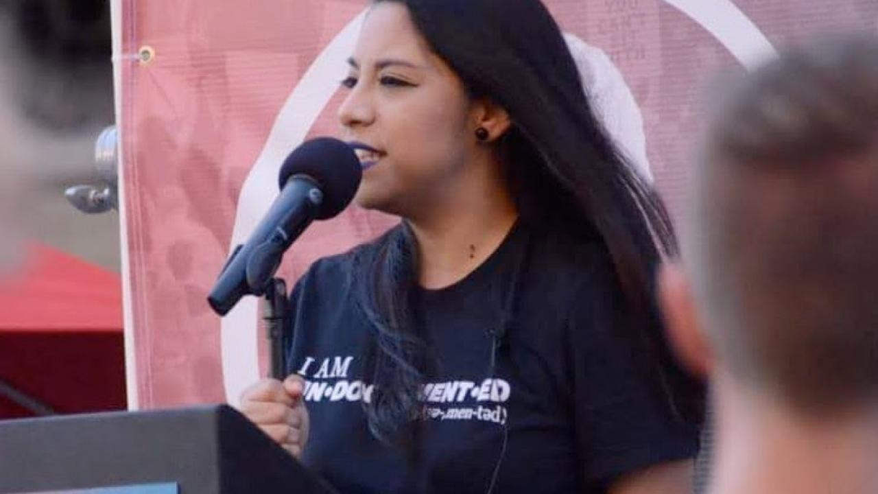 Photo of young activist Karla Estrada