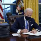 Joe Biden Signing Papers
