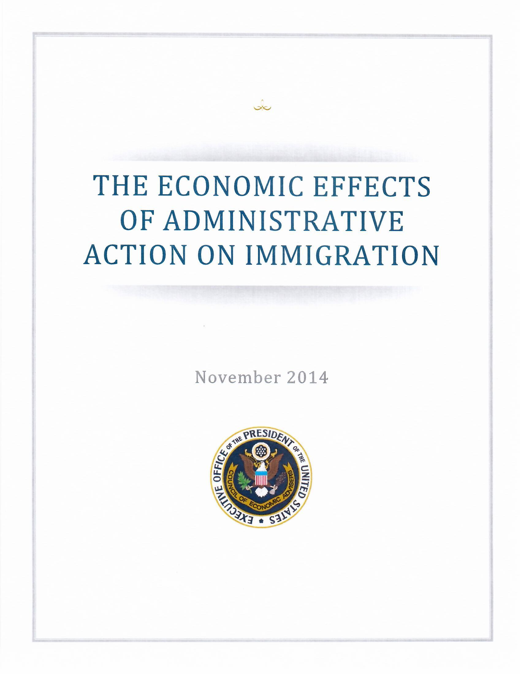 Image of economic effects of President Obama's Executive Action on Immigration